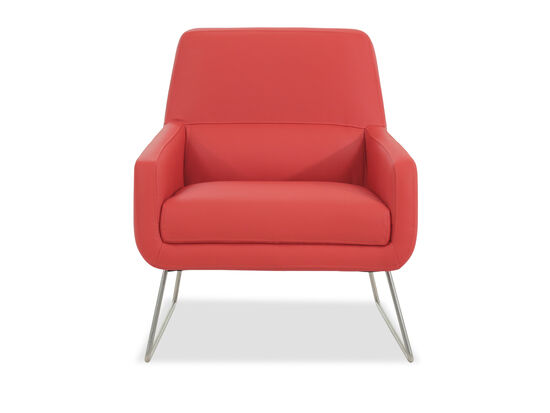 Casual Accent Chair in Red