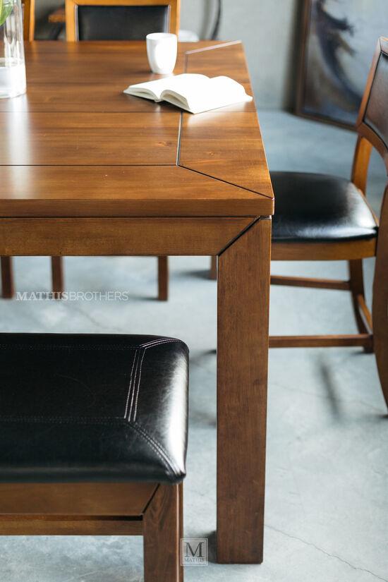 """36"""" Plank Top Pub Table in Dark Oak"""
