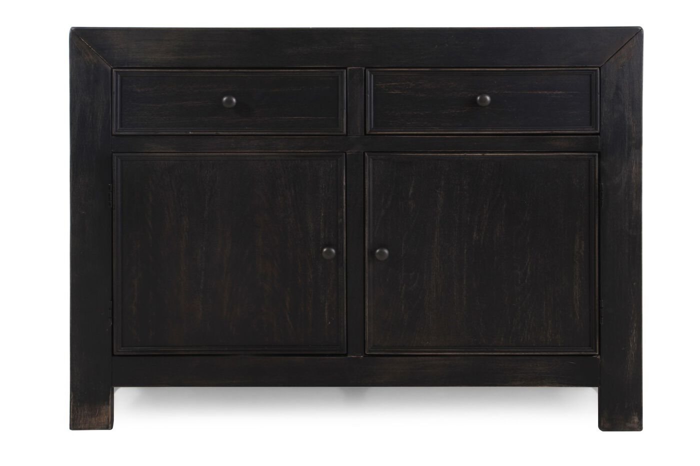 Two Door Casual Accent Cabinet In Weathered Black Mathis