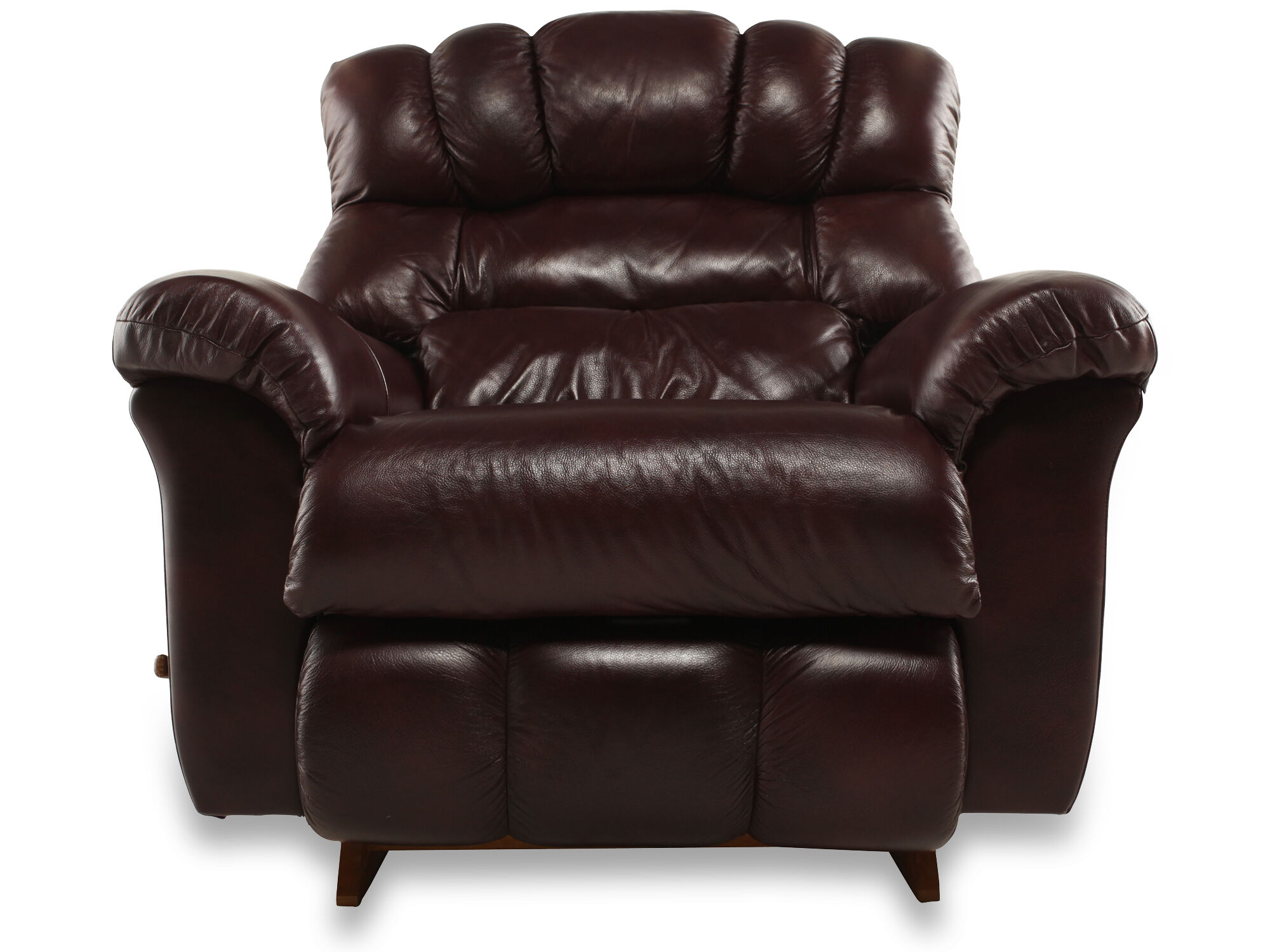 La-Z-Boy Crandell Bordeaux Leather Recliner ...  sc 1 st  Mathis Brothers & Recliners - Reclining Chairs \u0026 Sofas | Mathis Brothers islam-shia.org
