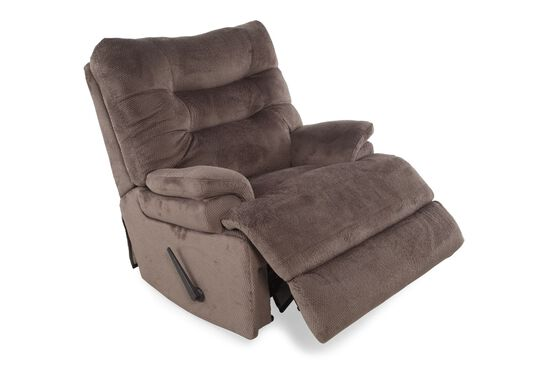 """Tufted Contemporary 44"""" Rocking Recliner in Seal"""