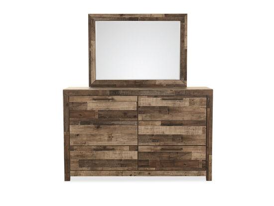 Two-Piece Six-Drawer Dresser & Mirror in Gray
