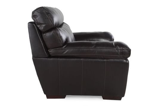 """Casual Leather 45"""" Chair in Blackberry"""