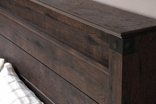 """Contemporary 52"""" Full/Queen Panel Headboardin Coffee Oak"""
