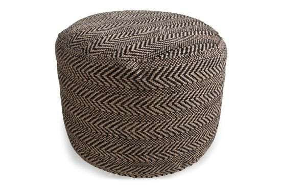 Ashley Chevron Pouf