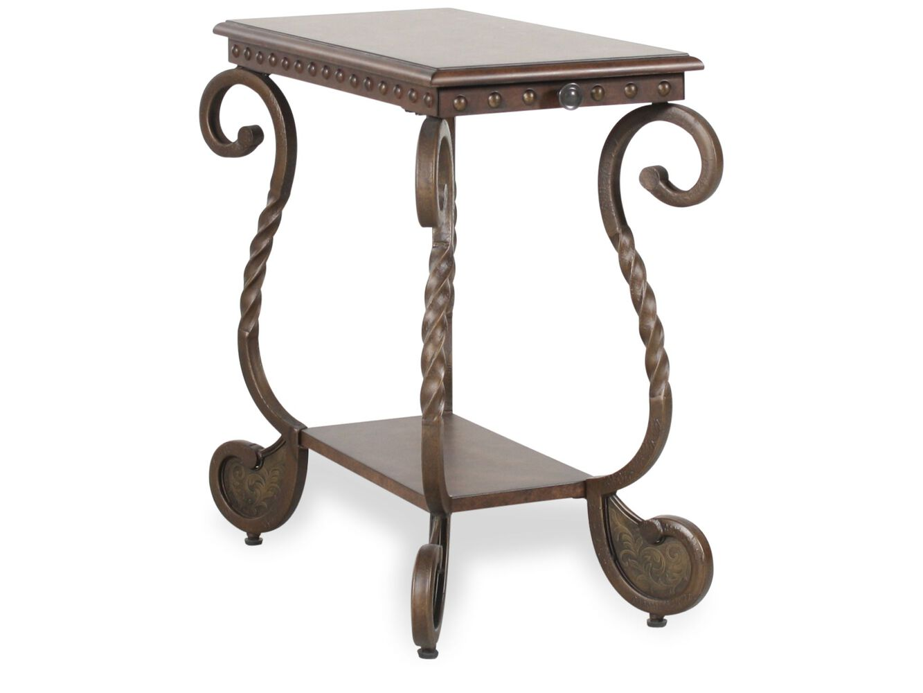 Ashley rafferty chairside end table mathis brothers furniture ashley rafferty chairside end table geotapseo Images