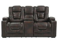 Prime Resources Big Chief Leather Brown Power Reclining Loveseat
