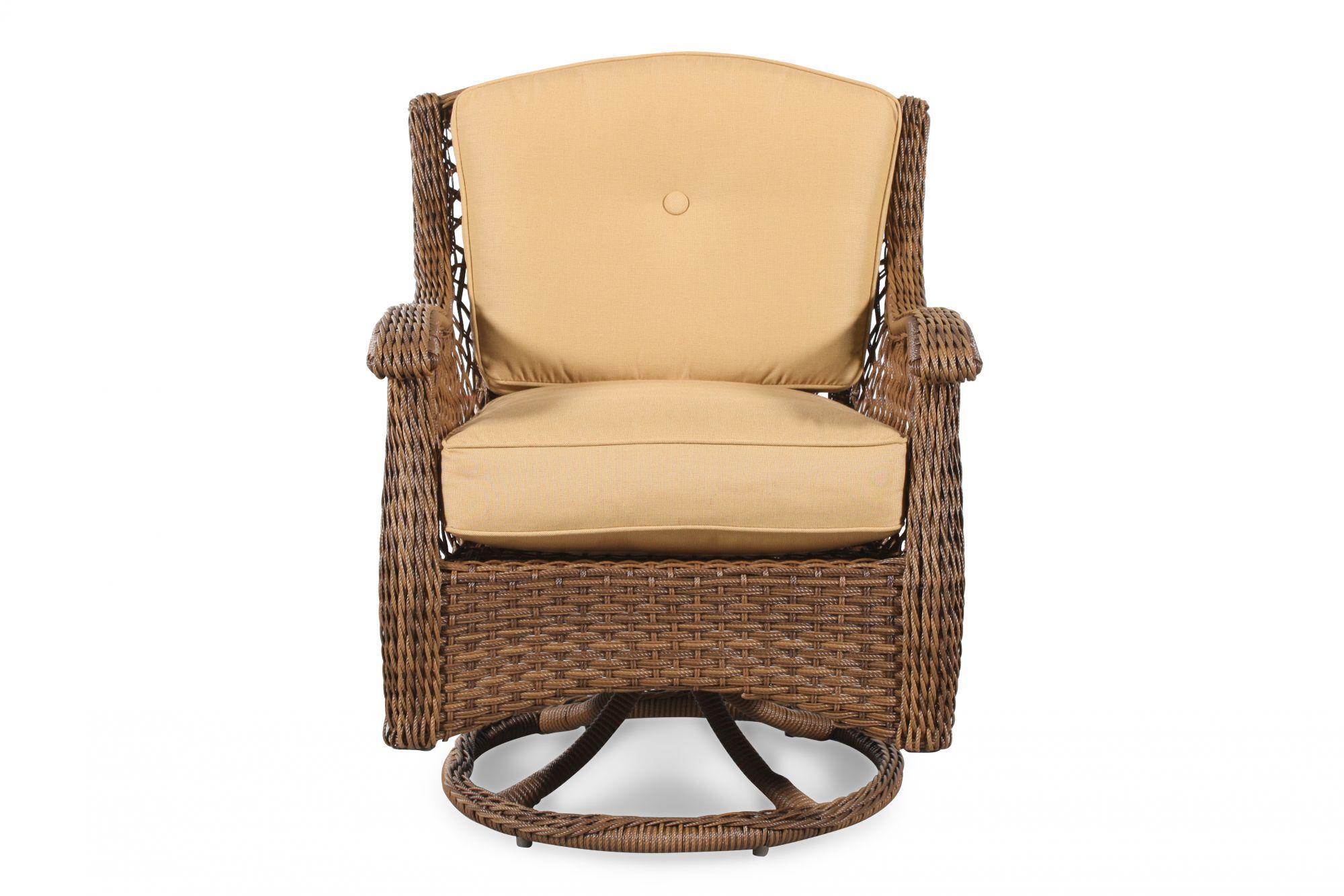 Images Curved Arm Casual Patio Swivel Rocker Chair In Brown Curved Arm  Casual Patio Swivel Rocker Chair In Brown