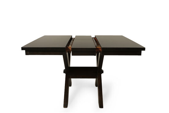 54'' to 66'' Trestle Dining Table in Dark Brown