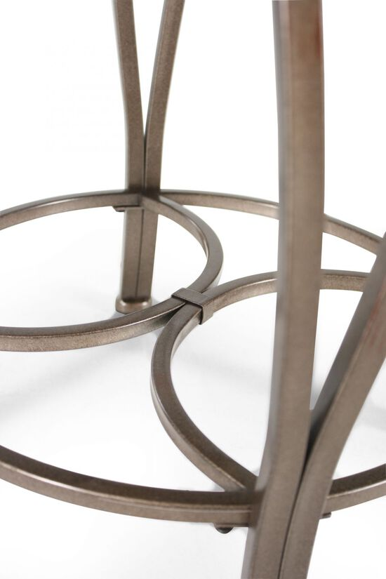 """Traditional 26"""" Swivel Bar Stool in Old Steel"""