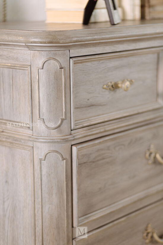 "58"" Contemporary Six-Drawer Chest in Light Brown"