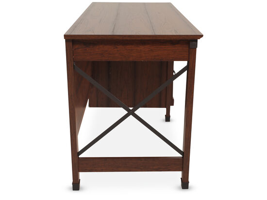 "53"" Traditional Three-Drawer Desk in Washington Cherry"
