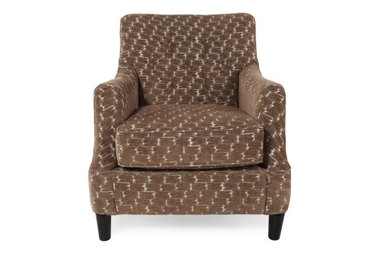"Button-Tufted Microfiber 31"" Accent Chair in Cocoa"