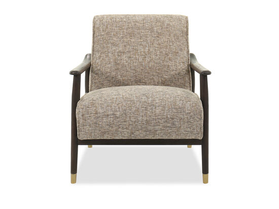 Casual Accent Chair in Brown
