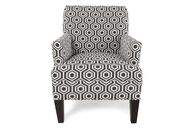 Geometric Patterned Chair in Dark Gray