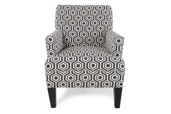 Geometric Patterned Chairin Dark Gray