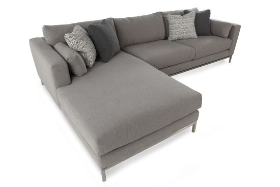 Two-Piece Mid-Century Modern Sectional in Steel-Gray