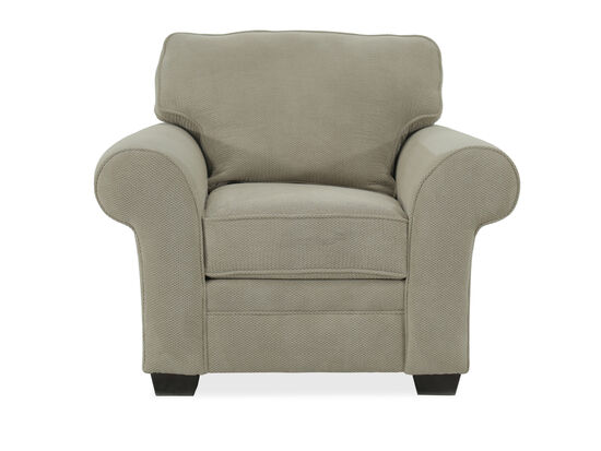 """Textured Casual 45"""" Chair in Beige"""