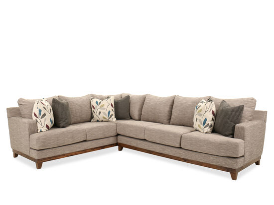 "Two-Piece Contemporary 128"" Sectional in Gray"