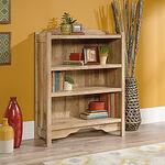 Contemporary Adjustable Shelf Open Bookcase in Antigua Chestnut