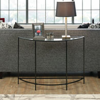 Arc-Shaped Modern Sofa Table in Black