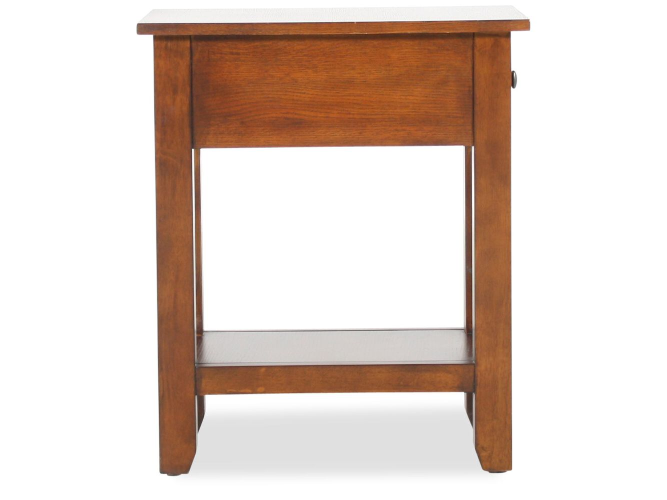One drawer chairside table in dark oak mathis brothers for 1 drawer table
