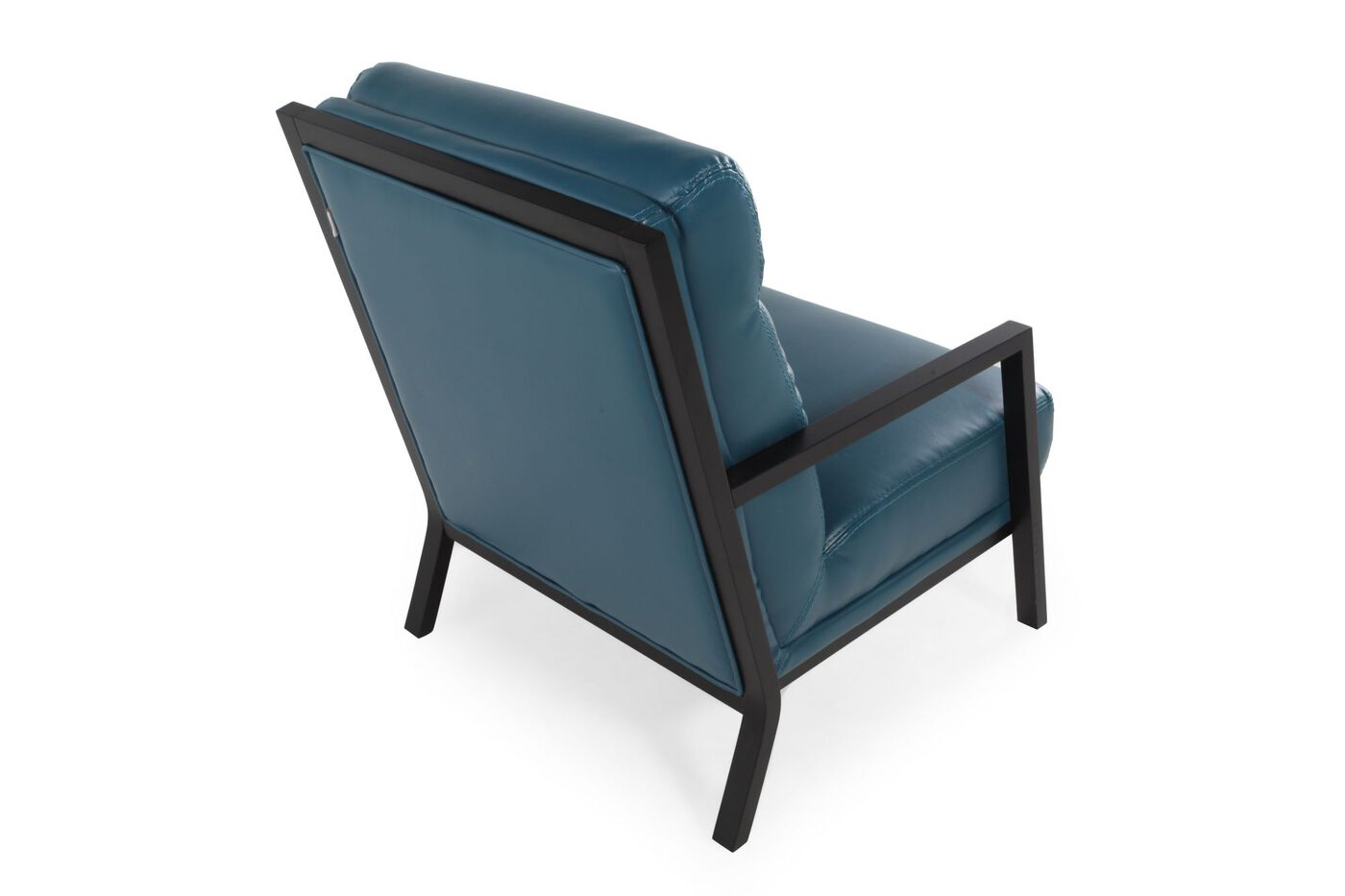 Contemporary 29 accent chair in dark blue mathis for Modern occasional chairs