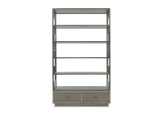 Two-Drawer Casual Etagere in Dark Taupe