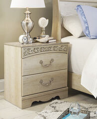 Ashley Catalina Antique White Two Drawer Nightstand