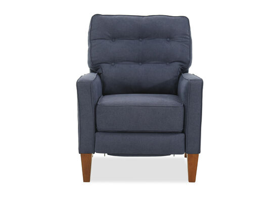 "Button Tufted Casual 30"" Recliner in Blue"