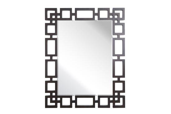 "50"" Contemporary Chain Link Accent Mirror in Dark Raven"