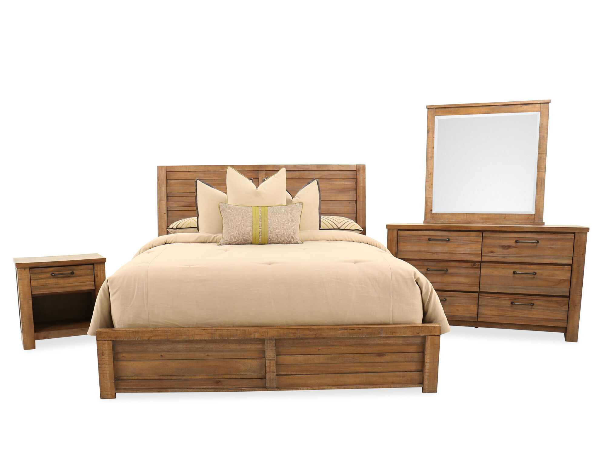 Images Four Piece Distressed Bedroom Set In Weathered Brown Four Piece Distressed  Bedroom Set In Weathered Brown
