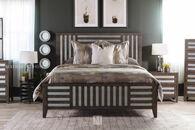"62"" Lattice-Framed Queen Bed in Driftwood"
