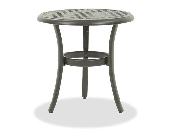 Lattice Work Contemporary Round End Tablein Black