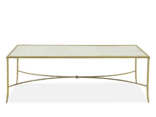 Rectangular Modern Cocktail Table In Gold Leaf