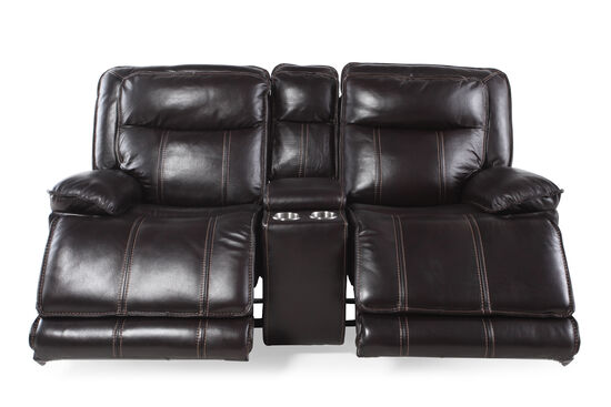 "Power Reclining Contemporary 78"" Loveseat in Dark Coffee"