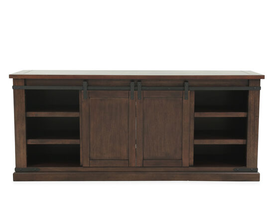 Sliding Barn Door Casual Tv Stand In Brown Mathis