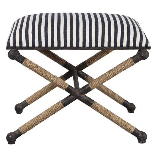 "Striped 24"" Accent Bench"