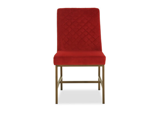Casual Diamond-Tufted Dining Chair in Red