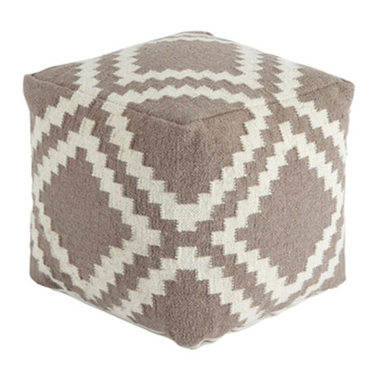 "Geometric Pattern Casual 20"" Pouf in Gray"