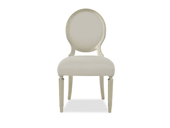 French Carved-Frame 39'' Side Chair in Beige