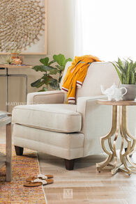 """Casual 32"""" Chair in Beige"""