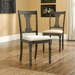 Two-Piece Solid Wood 38'' Side Chair Set in Cream