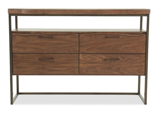 """58"""" Four-Drawer Server in Brown"""