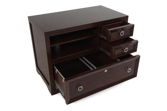 Adjustable Shelf Contemporary Utility File in Walnut