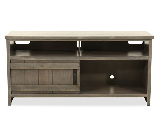 "Casual Planked 56"" Console in Brown"