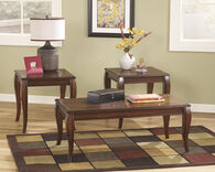 Ashley Mattie Reddish Brown Occasional Table Set