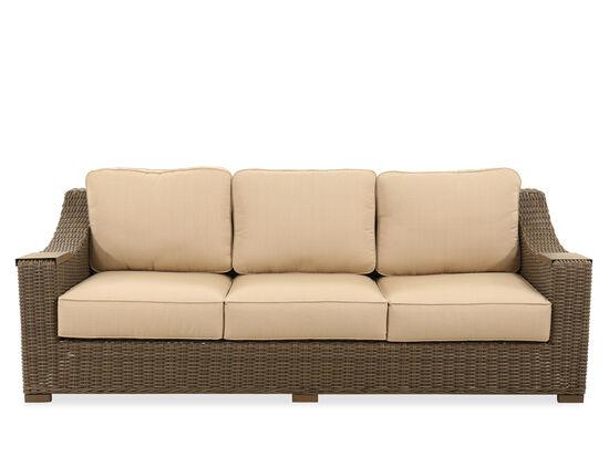 UV-Resistant Woven Sofa in Linen Champagne