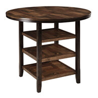 """Casual 42"""" Three-Shelved Counter Dining Table in Dark Brown"""