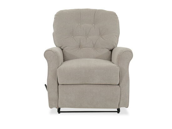 "Button Tufted Transitional 36"" Wall Saver Recliner in Beige"